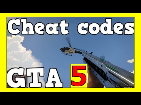 GTA 5 - Cheat codes - INFINITE AMMO, ALL WEAPONS, HEALTH