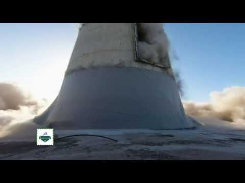 South Australia! Port Augusta power station chimney getting demolished