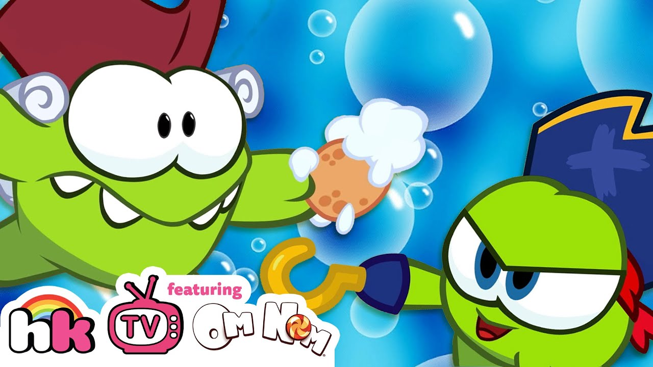 Om Nom Stories SuperNoms: Bath Time Pirates | Cut The Rope | Funny Cartoons for Kids | HooplaKidz TV
