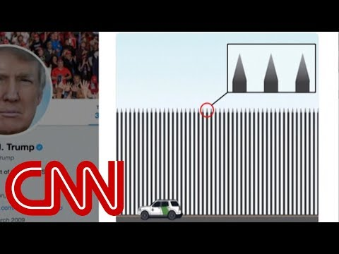 Trump tweets new border 'barrier' drawing (with spikes) Mp3