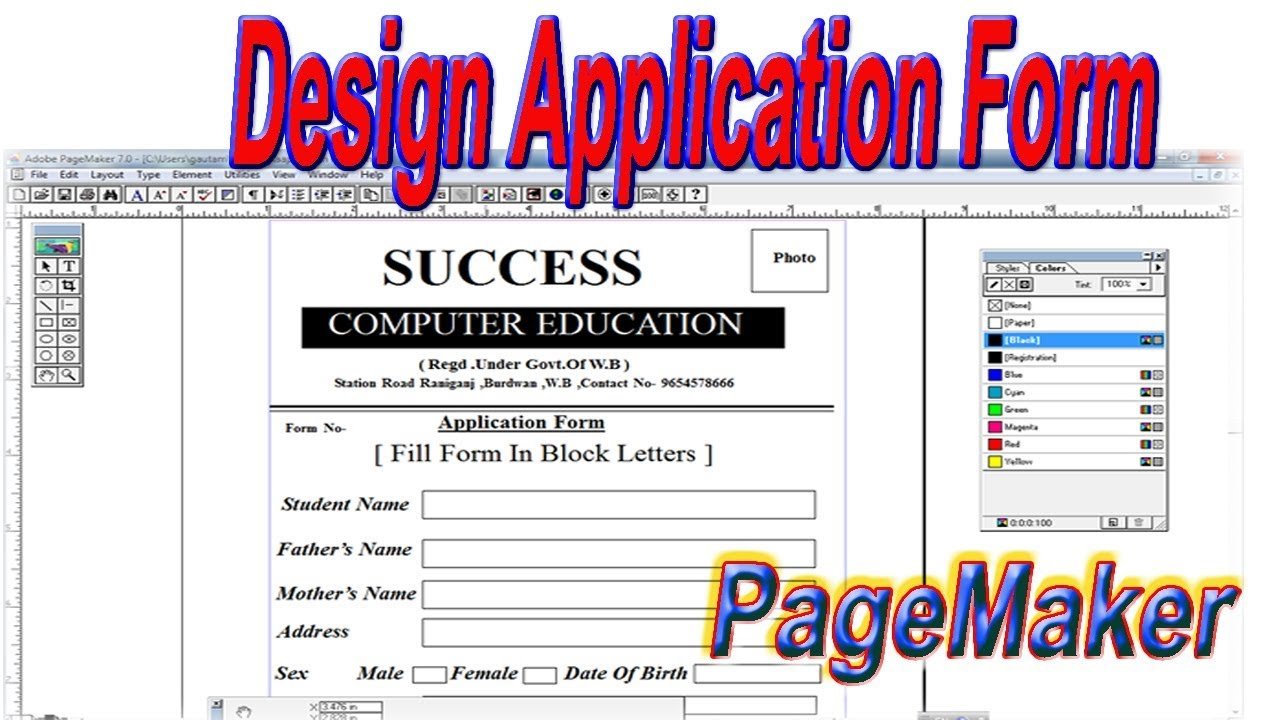 How To Create And Design Application Form In Adobe