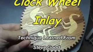 Wooden Clock Wheel Inlay