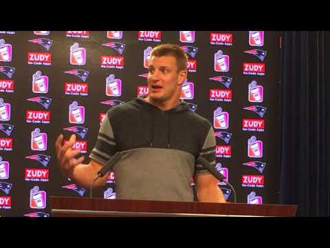 Rob Gronkowski never went through table at Bills tailgate, but he did at family parties