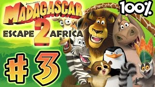 Madagascar Escape 2 Africa Walkthrough Part 3 (X360, PS3, PS2, Wii) 100% Level 3 - Welcome to Africa