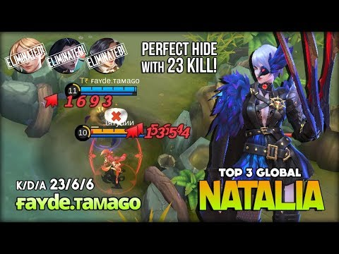 Midnight Raven Queen of Critical with 23 Kill by ғa�de.ᴛa�aɢo Top 3 Global Natalia ~ Mobile Legends