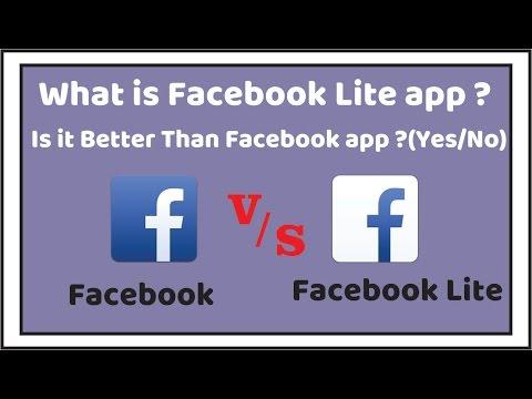 Facebook App V/s Facebook Lite App-What is Facebook Lite app? Is it better than Facebook app? Hindi
