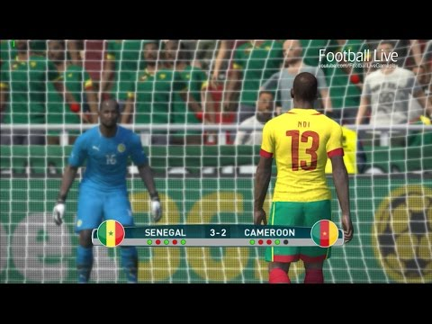 Senegal vs Cameroon | Penalty Shootout | PES 2017 Gameplay PC