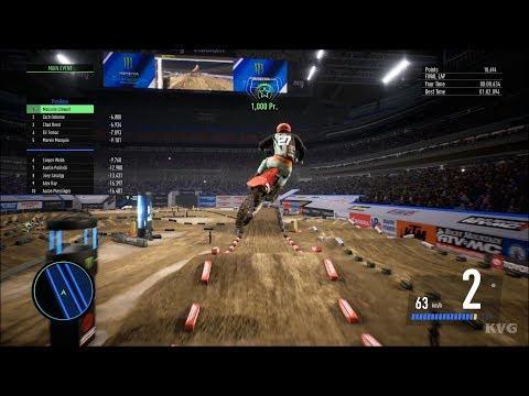 Monster Energy Supercross 3 - Houston (NRG Stadium) - Texas Gameplay (PS4 HD) [1080p60FPS]
