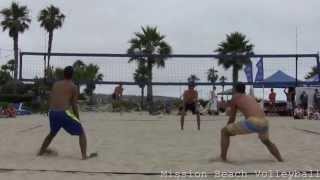 2013 CBVA Mission Beach Mens AAA 07-06-2013 Marchewka and Olson defeat Lesniak and Viera