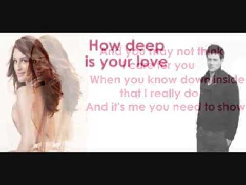 Glee   How deep is your love lyrics