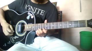 Lajalu Muskan Le - Guitar part cover by sanjip rana