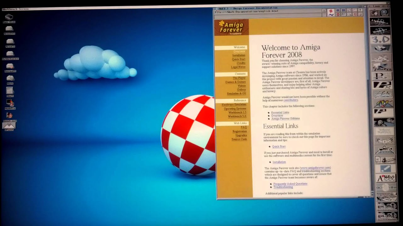 Aros run Amiga 68k application with JanusUAE in full screen update
