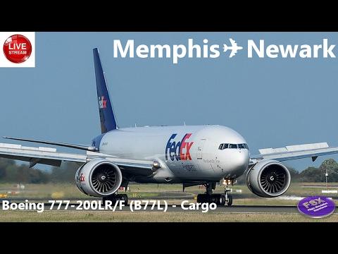 [FSX] [VATSIM] BOEING 777-200LR/F (CARGO)| Memphis ✈ Newark | Fedex 721