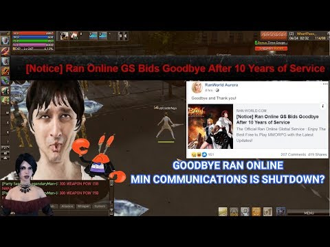 RAN ONLINE GS - MAG SASARA NA! (MIN COMMUNICATIONS IS SHUTTING DOWN?)  PAALAM - RAN ONLINE IS CLOSING