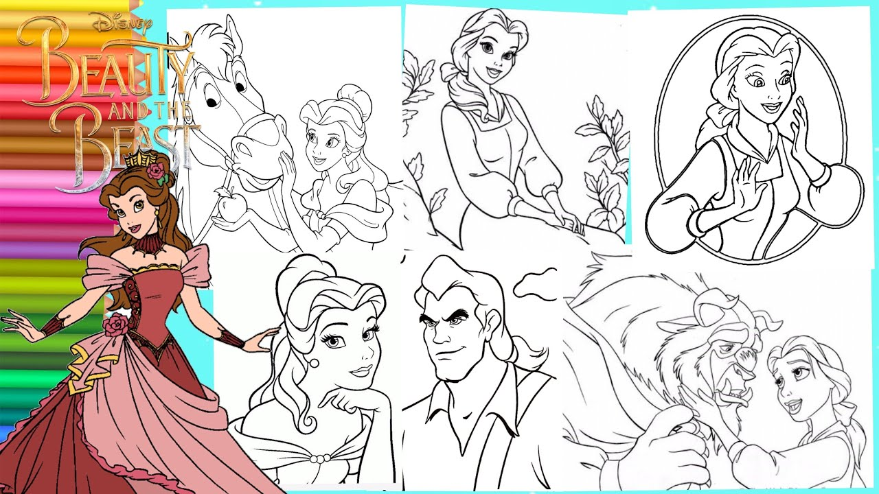 Belle Disney Coloring Pages | Coloring Pages For Kids | 720x1280