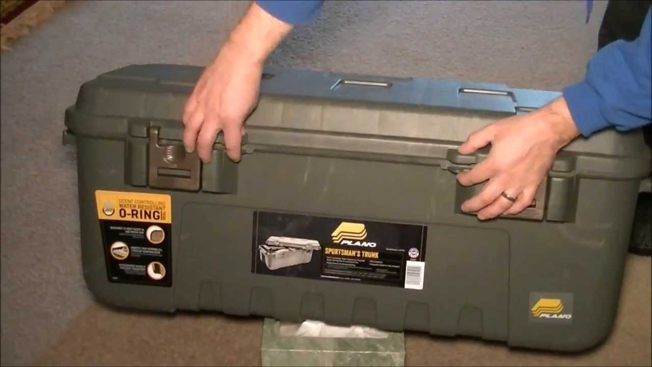 Plano Sportsmanu0027s Trunk With Scent Control (Walmart) #1919 99   YouTube