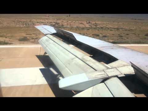 Посадка самолета на Иссык-куле. Landing Issyk-kol