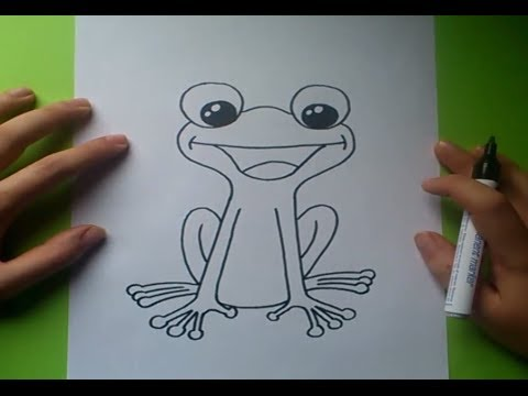 Como dibujar una rana paso a paso 2  How to draw a frog 2  YouTube