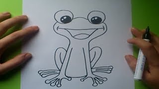 Como dibujar una rana paso a paso 2 | How to draw a frog 2
