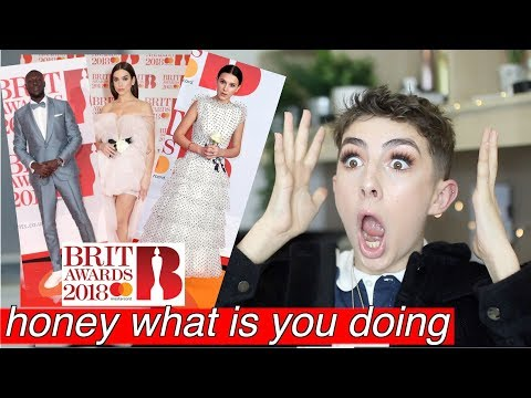 Reacting To Brit Awards Fashion 2018 (you need to fire ur stylist)