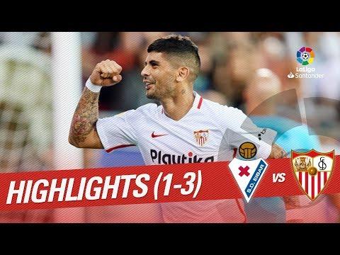 Resumen de SD Eibar vs Sevilla FC (1-3)