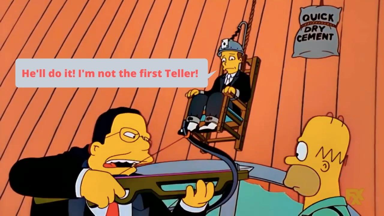 "Download The Simpsons - Penn & Teller ""I'm not the first Teller!"""
