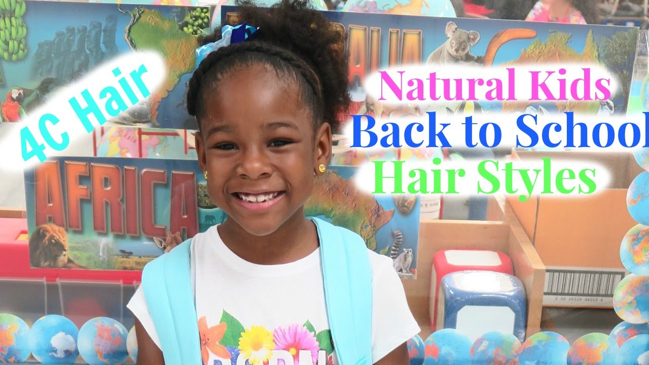 Natural Kids Back To School Hairstyles Quick Cute 4c Hair