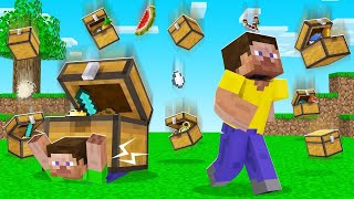 CHESTS + LOOT = RAIN In MINECRAFT! (incredible)