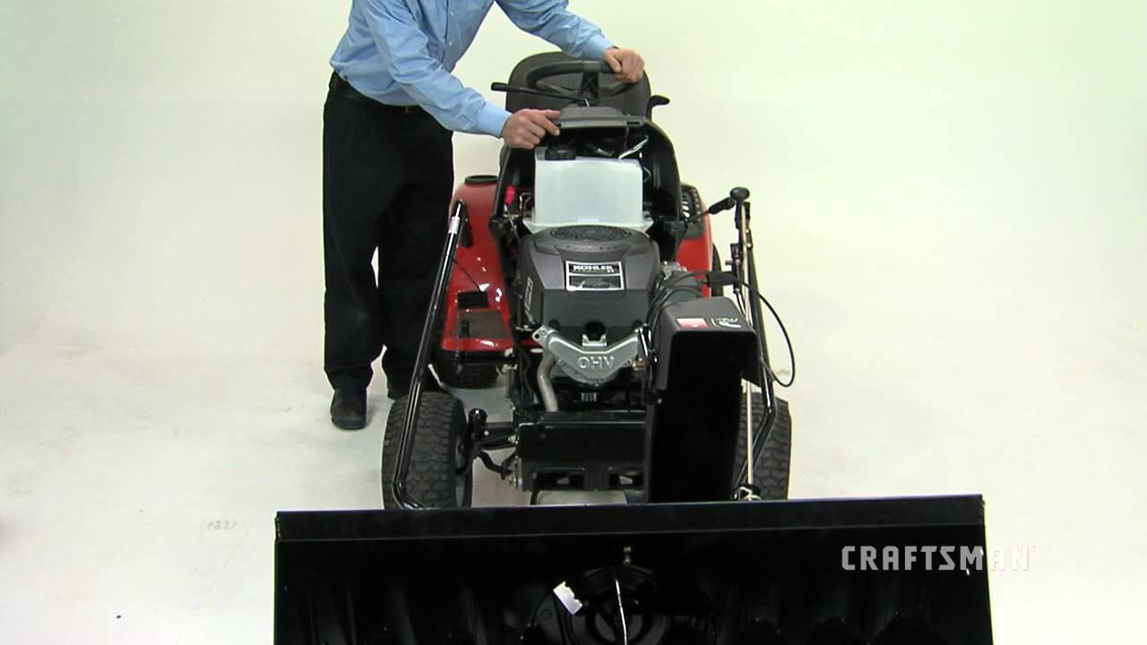 Attaching Snow Thrower To Tractor Youtube For Blower Wiring Diagram