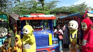 Ramai Sekali Naik Bus Tayo Ke Wisata Kebun Blimbing Odong-Odong Kereta TAYO The Little Bus Tayo Upin