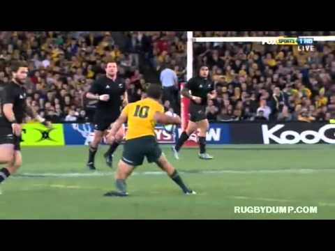 Massive side step by Quade Cooper