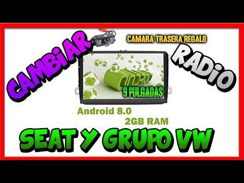 RADIO ANDROID DE 10 PULGADAS PARA SEAT ALTEA Y GRUPO VW