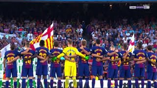 Attentato Barcellona: minuto di silenzio al Camp Nou