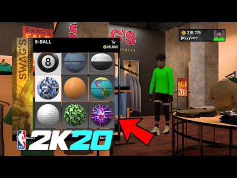 NBA 2K20 HOW TO USE AND EQUIP YOUR OWN BASKETBALL IN THE NEIGHBORHOOD NBA 2K20 CUSTOM BALL AT PARK!