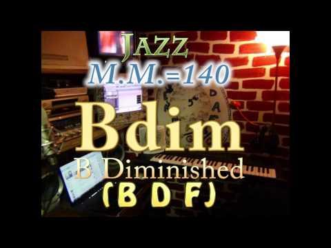 B Diminished B D F   Jazz   MM140   One Chord Backing Track