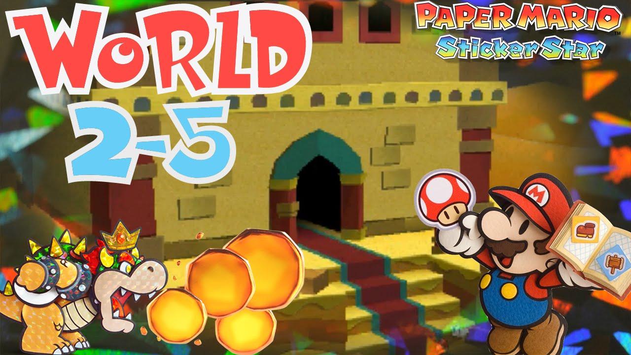 paper mario sticker star world 2 5 drybake stadium myogaming