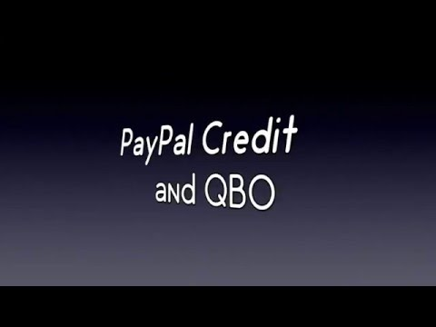 Using Paypal Credit With Qbo