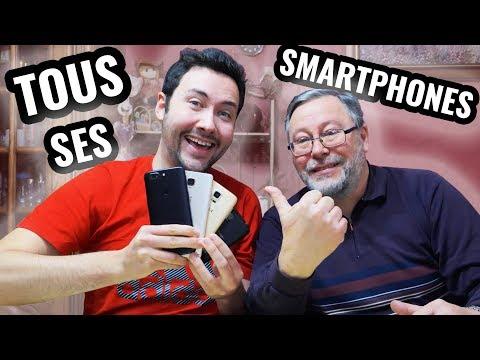 Tous les Smartphones de mon père !