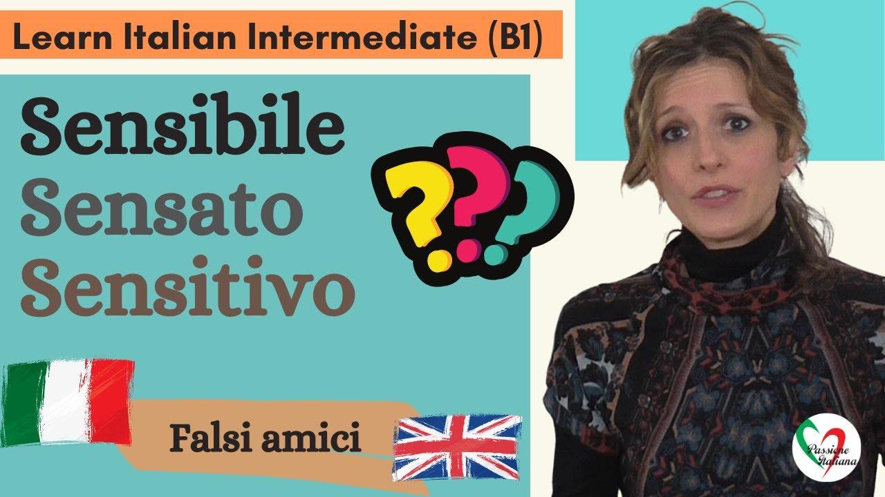 9. Learn Italian Intermediate (B1): Falsi amici italiano-inglese (pt 3)