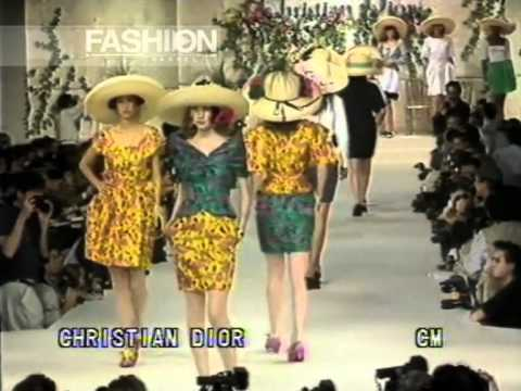 """Christian Dior"" Spring Summer 1988 Paris pret a porter women by Canale Moda Video"