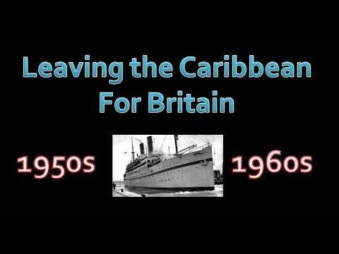 Leaving the Caribbean for Britain