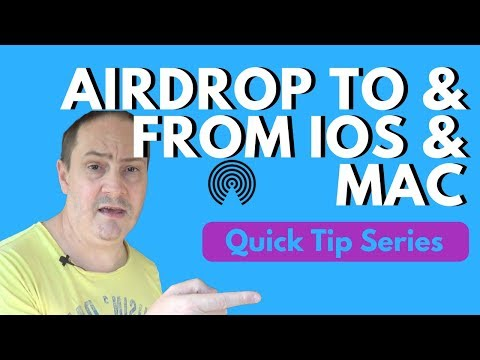 How To AirDrop From Mac to iPhone (and Back!) - Quick Tip #1