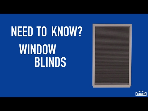 Need to Know - Window Blinds