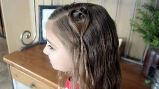 Hanging Heart | Valentine's Day | Cute Girls Hairstyles