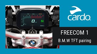FREECOM 1: Pairing BMW's TFT Tutorial