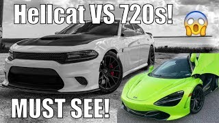 1000hp Hellcat Races StreetSpeed717 Mclaren! *INSANE*