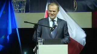 Wykład Donalda Tuska w Łodzi  | OnetNews - Na żywo