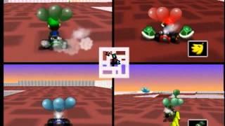 Midnight Gaming: Mario Kart 64 4 Player Battle (Part 3)