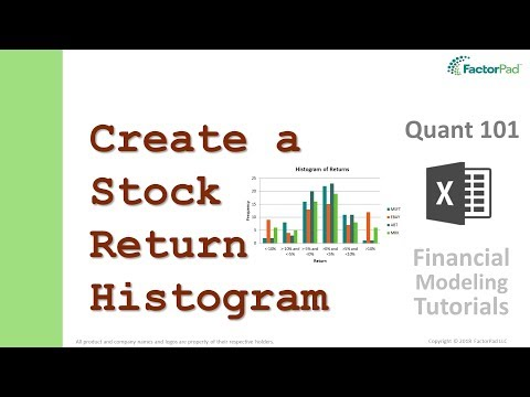 Stock return frequency distributions and histograms in Excel