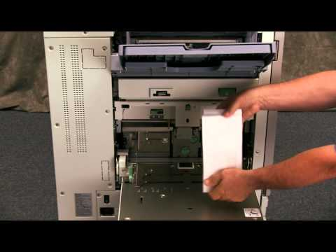 RISO Printer How to Load Envelopes In The Standard Feed Tray